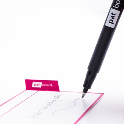 PATboard non-permanent marker black - Write on taskcard, easy to clean