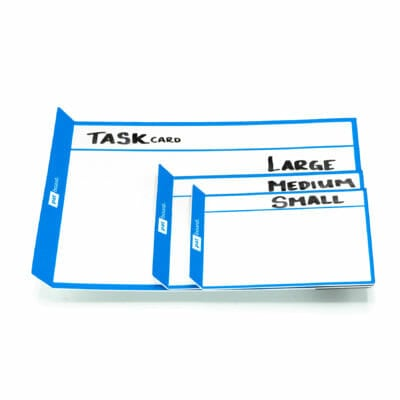 PATboard TASKcards magnetic notes compare S/M/L - For scrum board or kanban board