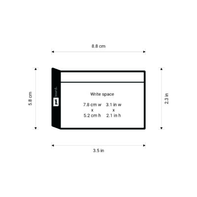 PATboard TASKcards small sizes - In centimeters and inches