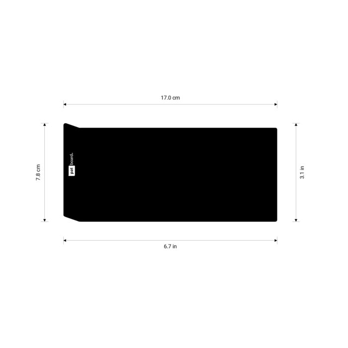 PATboard COLUMNcards sizes - In centimeters and inches