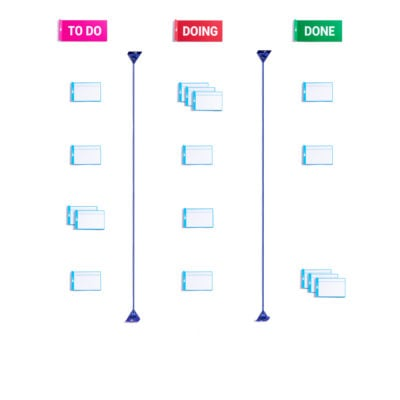 PATboard home tool magnetic set - For scrum or kanban board - Agile toolkit with reusable magnets