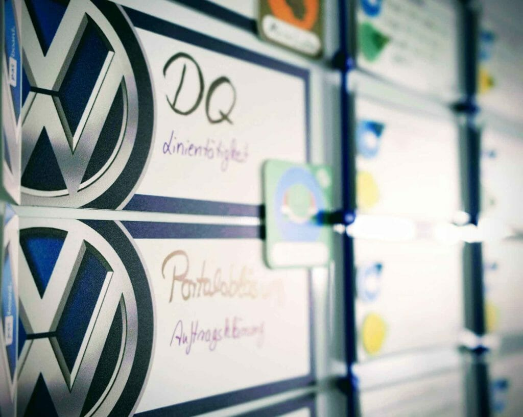 PATboard Volkswagen customized solution project board with logo